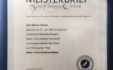 Meisterbrief Marian Köster