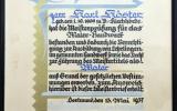 Meisterbrief Karl Köster